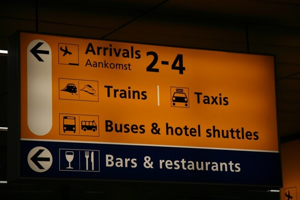 Train from Schiphol to Amsterdam